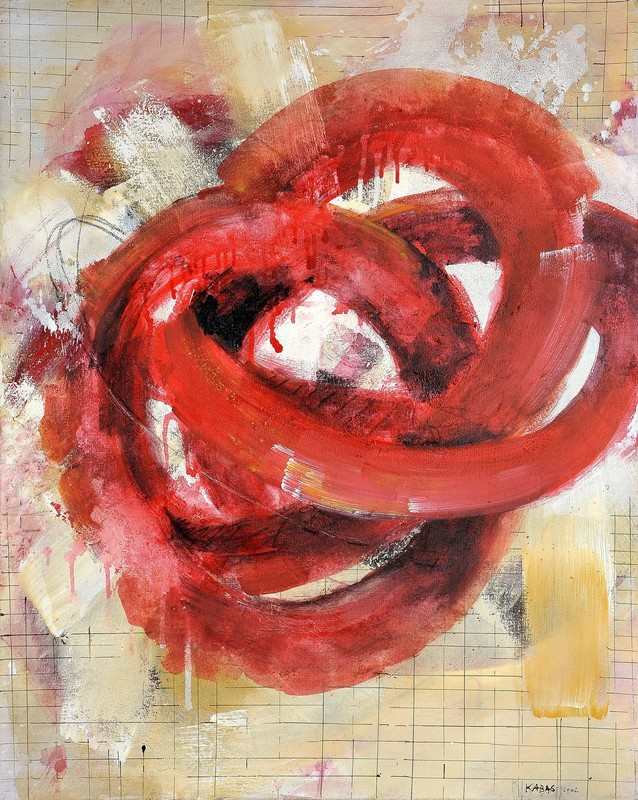 Robert KABAS - Painting - Rotes Ding