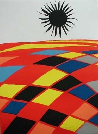 Alexander CALDER - Print-Multiple - Soleil Noir