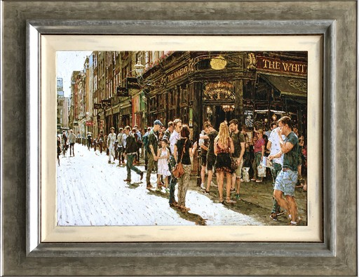 Tony KARPINSKI - Painting - Outside The White Lion