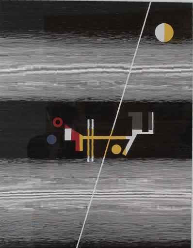 Michel SEUPHOR - Pittura - L' Equilibre est fragile