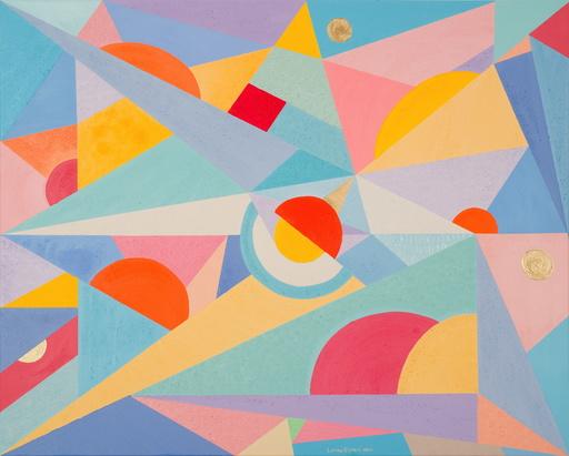 Lorena ULPIANI - Painting - Universi 2 - materic abstract geometric oil - astratto