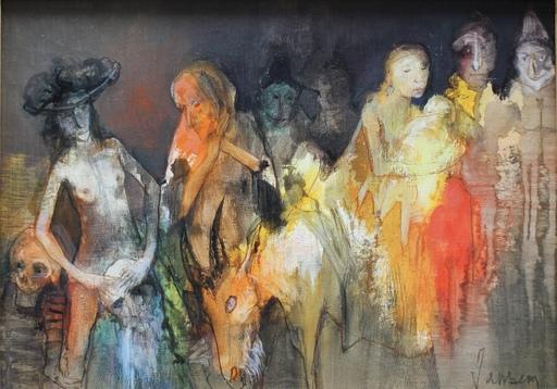Jean JANSEM - Pintura - LA TENTATION SAINT ANTOINE