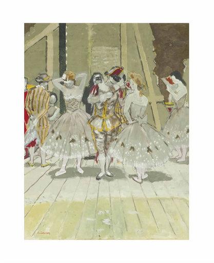 Maurice BRIANCHON - 水彩作品 - Les Coulisses de l'opera