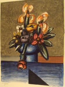 "Franz PRIKING, ""Bouquet de fleurs""1970."