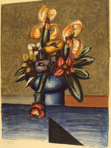 "Franz PRIKING - Stampa-Multiplo - ""Bouquet de fleurs""1970."