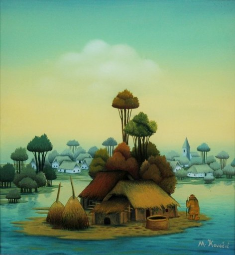 Mijo KOVACIC - Pittura - The island
