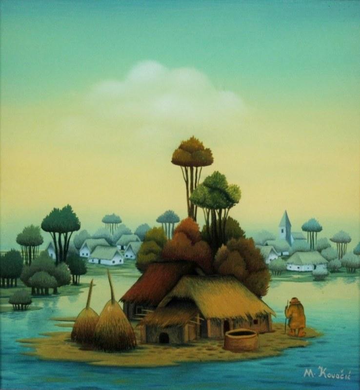 Mijo KOVACIC - Pintura - The island