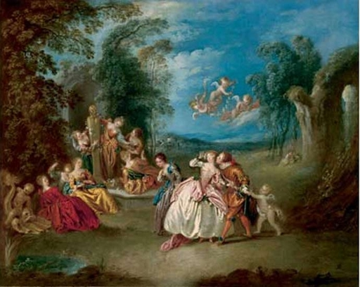 Jean-Baptiste François PATER - Painting - Le Colin - Maillard
