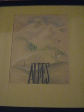 Boris LACROIX - Dibujo Acuarela - PROJET D AFFICHE S N C F 1939