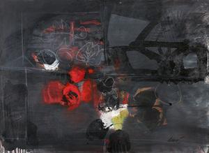 Antoni CLAVÉ - Pittura - Composición rojo y negro
