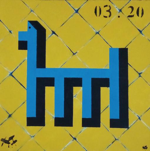 Harry BARTLETT FENNEY - Pittura - whispers 4 (blue dog)