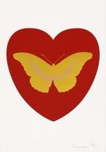 达米恩•赫斯特 - 版画 - I Love You (Red, Gold, Gold)