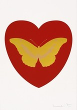Damien HIRST - Estampe-Multiple - I Love You (Red, Gold, Gold)