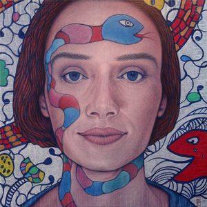 DEN GUITTO - Painting - FACE à FACE avec Niki de Saint Phalle