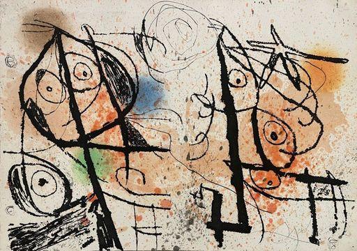 Joan MIRO - Stampa-Multiplo - Le courtisan grotesque