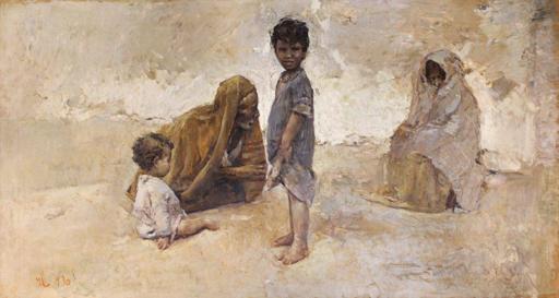 Romualdo LOCATELLI - Peinture - Scena africana