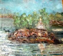 Leon Schulman GASPARD - Painting - Island Church
