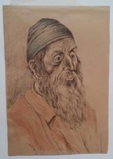 Hermann STRUCK - Dibujo Acuarela - Jew from Jerusalem