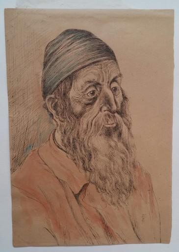 Hermann STRUCK - Drawing-Watercolor - Jew from Jerusalem