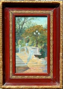 Gustave REYNIER - Pintura - escalier de pierre
