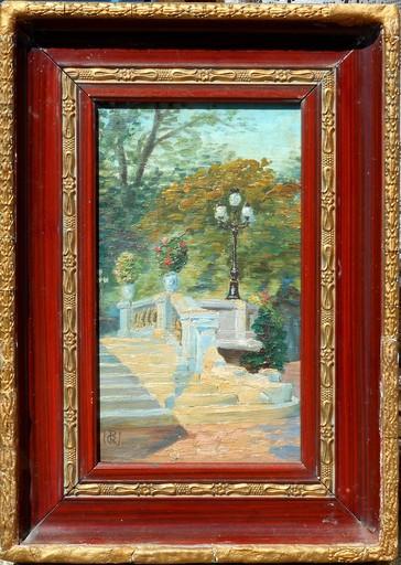 Gustave REYNIER - Painting - escalier de pierre