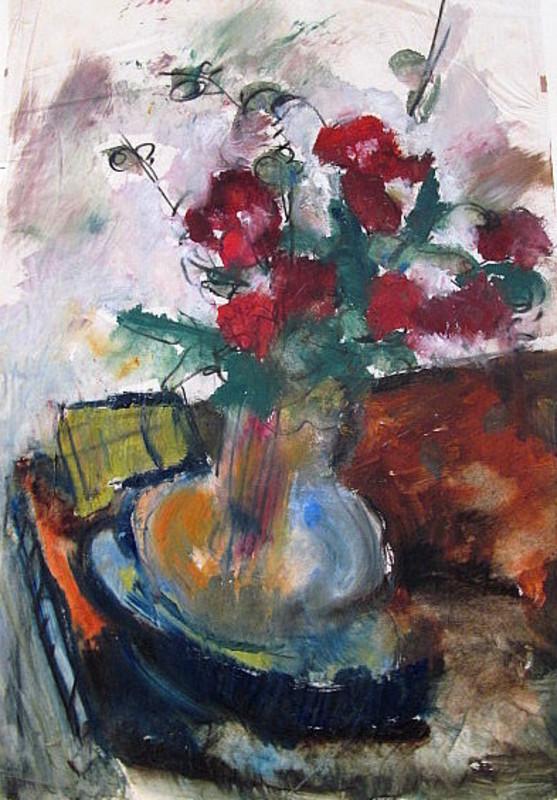Friedrich EINHOFF - 水彩作品 - Blumenstrauß in  Vase.