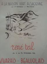 René TEIL - Drawing-Watercolor - René Teil 1972