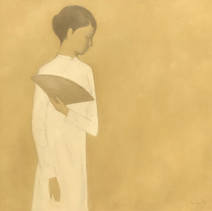 Viet Dung HONG - Painting - Girl With Fan