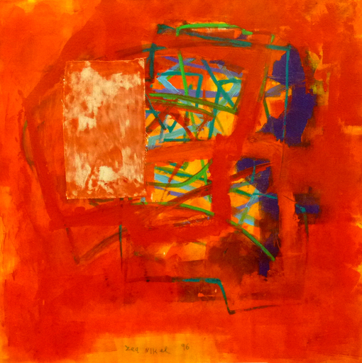 Lea NIKEL - Painting - Abstract in red