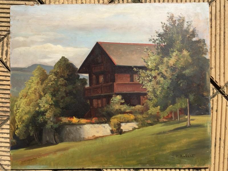 Steven Paul ROBERT - Pintura - Paysage au chalet