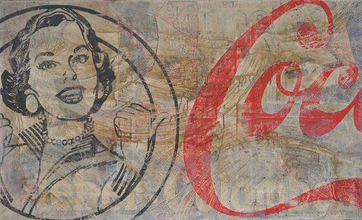 Paolo DE CUARTO - Painting - I'd like to buy the world a Coke