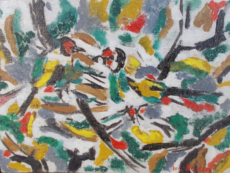 Marcel BURTIN - Pintura - Les oiseaux