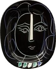 Pablo PICASSO - Ceramic - Woman's Face
