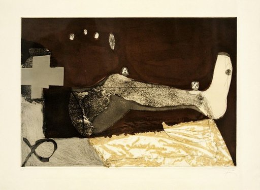 Antoni TAPIES - Print-Multiple - La cama