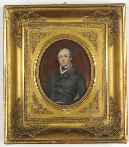 "Lizinka Aimée Zoé DE MIRBEL - Miniature - ""Portrait of a gentleman"", important miniature on ivory!"