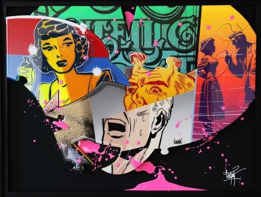 KEYMI - Pintura - Cacophonie encadrée N°6