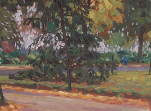 Basil POUSTOCHKINE - Peinture - Sous bois