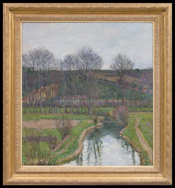 Blanche HOSCHÉDÉ-MONET - Pintura - La Risle à Beaumont-le-Roger, à l'automne