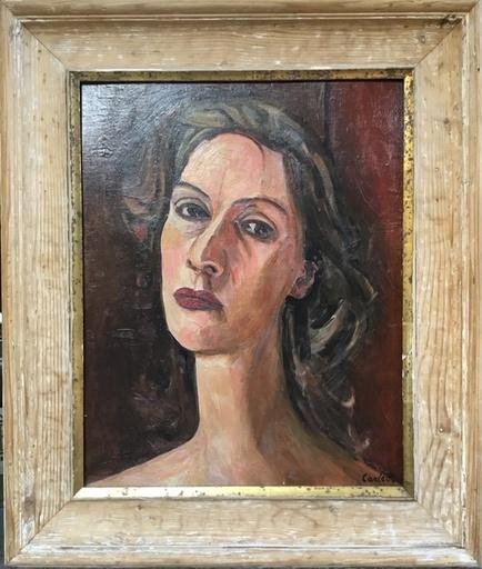 Mario CARLETTI - Pintura - Ritratto di Signora