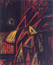 Jean PIAUBERT - Painting - Composition, 1947-48
