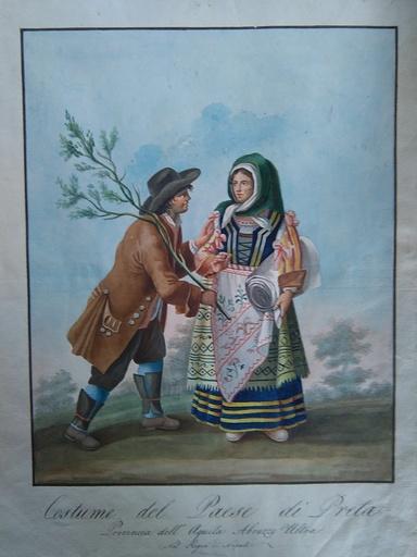 Bartolomeo PINELLI - Drawing-Watercolor - Costume