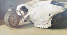 Vittorio POLIDORI - Pintura - Natura morta con sveglia