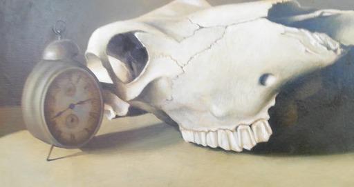 Vittorio POLIDORI - Pittura - Natura morta con sveglia