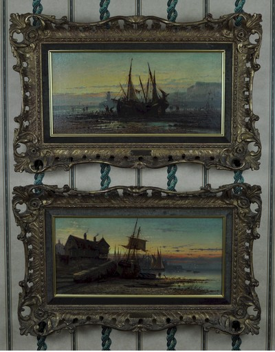 Louis Étienne TIMMERMANS - Pintura - 'Treport, Normandy', and 'Near trouville, Normandy'