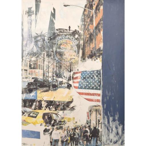 """Darryl POTTORF - Peinture - Massive Darryl Pottorf Mixed Media Painting, 84""""H"""