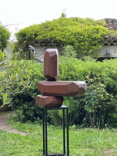 Arik LEVY - Skulptur Volumen - RockCorten set