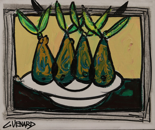 Alexandre FASSIANOS - Pittura - Poires vertes