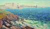 Adrien HAMON - Peinture - Collioure, gros temps au cap bear