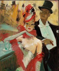Jean Gabriel DOMERGUE - Painting - Chatam's Bar