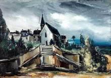 Maurice DE VLAMINCK - Painting - L'Eglise